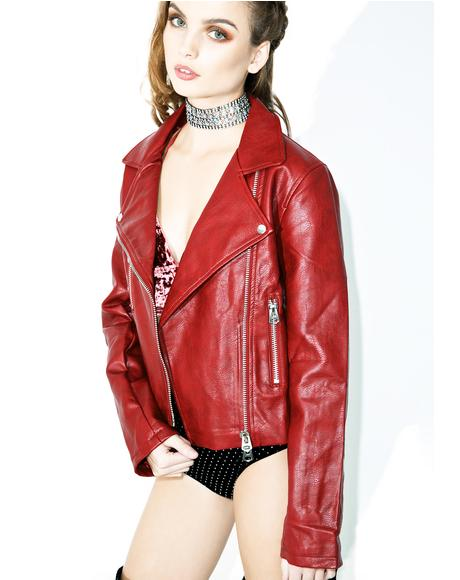 Miss Molly Vegan Leather Jacket