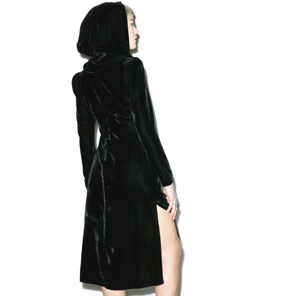 Widow Spectre Love Velvet Hooded Jacket