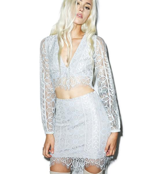 For Love & Lemons Lyla Mini Skirt