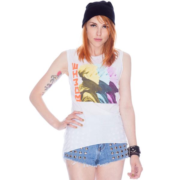 Chaser David Bowie Center Back Cowl Muscle Tank