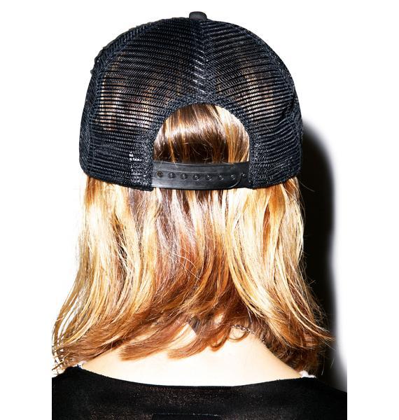 Lauren Moshi Jilly Enjoy Patch Trucker Hat