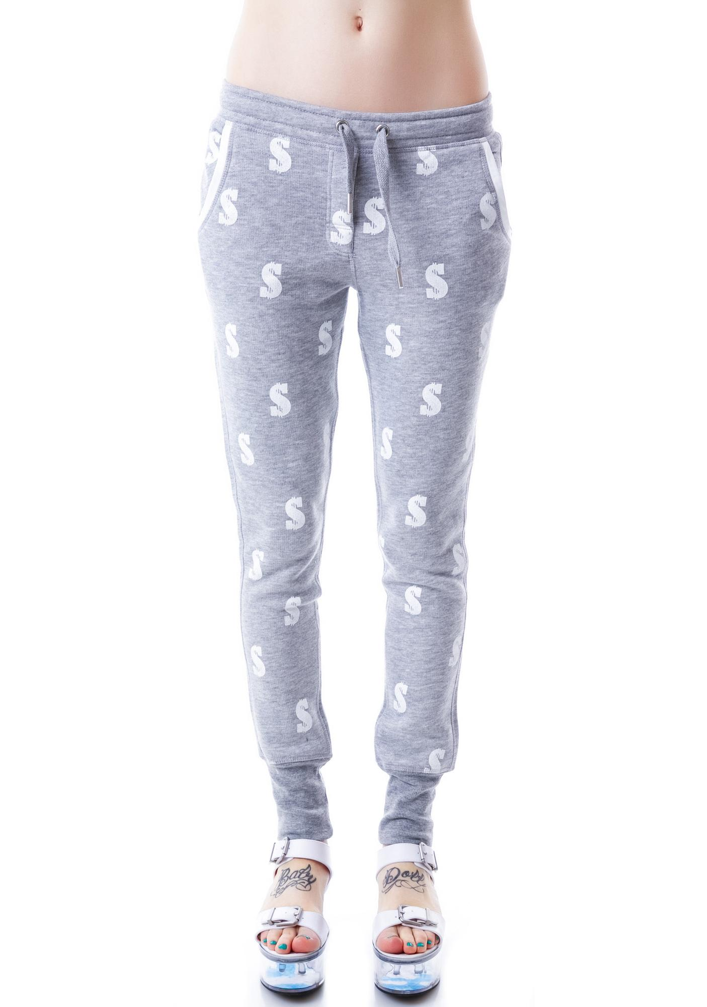Zoe Karssen Dollar All Over Loose Fit Sweatpants