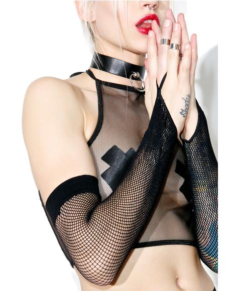 Phantom Limb Fishnet Gloves