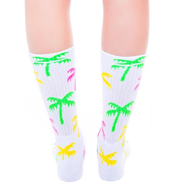 HUF Spring Break Crew Sock