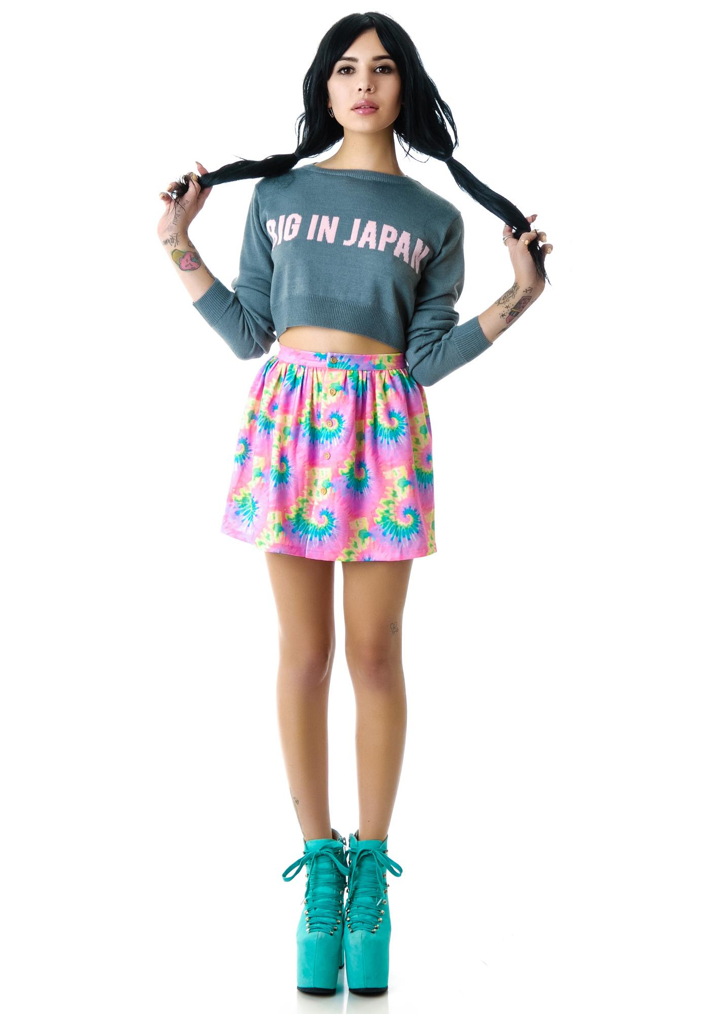 Big In Japan Crop Sweater