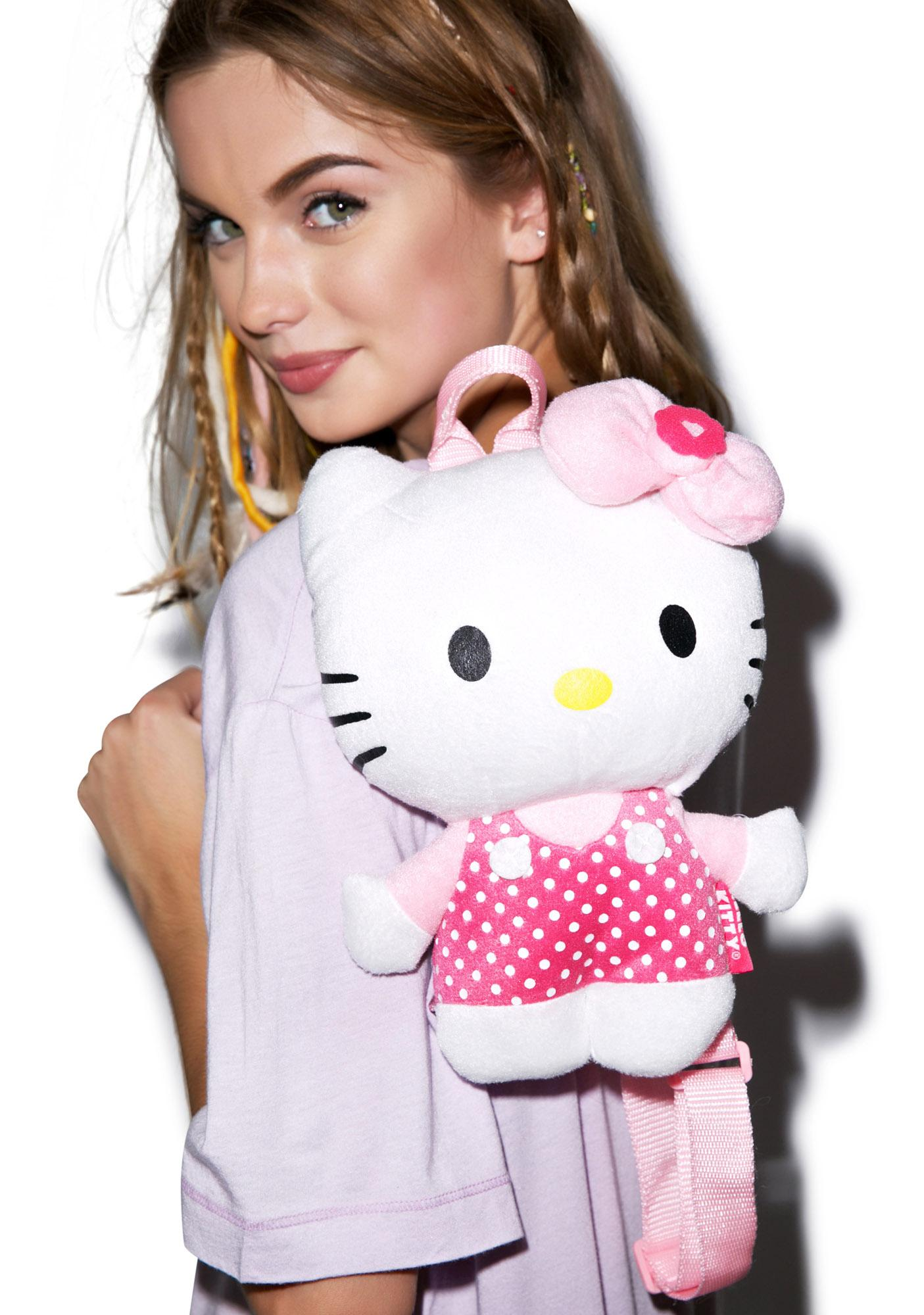 Say Hello To Miss Kitty Plush Back Pack