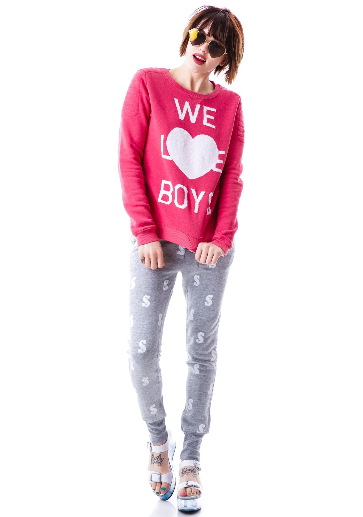 Zoe Karssen We Love Boys Loose Fit Sweater