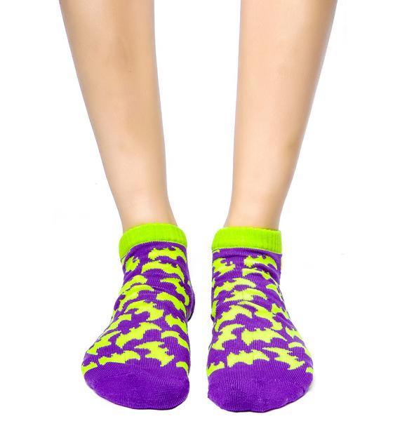 Gotham City Bat Ankle Socks