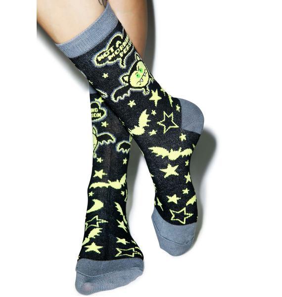 Morning Hater Socks