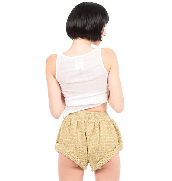 One Teaspoon Valentine Crochet Shorts