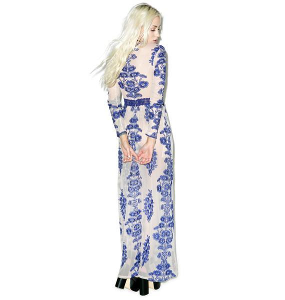 For Love & Lemons Temecula Maxi Dress