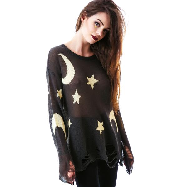 Wildfox Couture Night Owl Lenon Sweater
