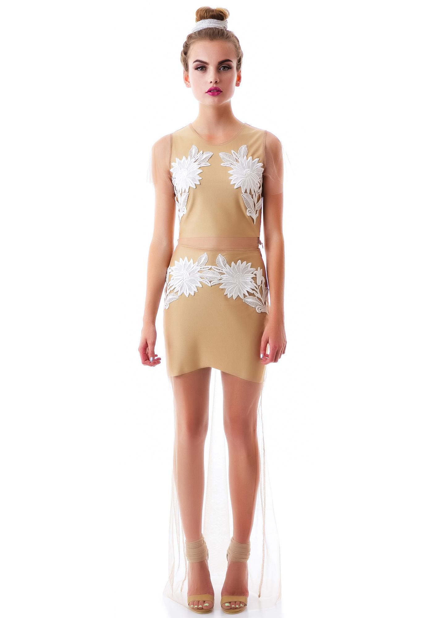 For Love & Lemons Balmy Nights Skirt
