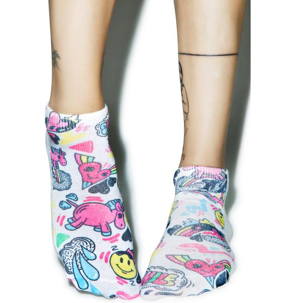 Cartoon Trip Ankle Socks