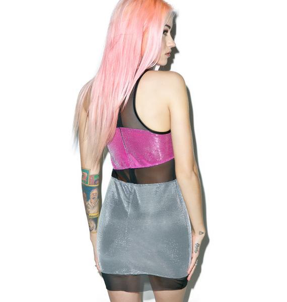 Jaded London Mesh Panelled Mini Dress