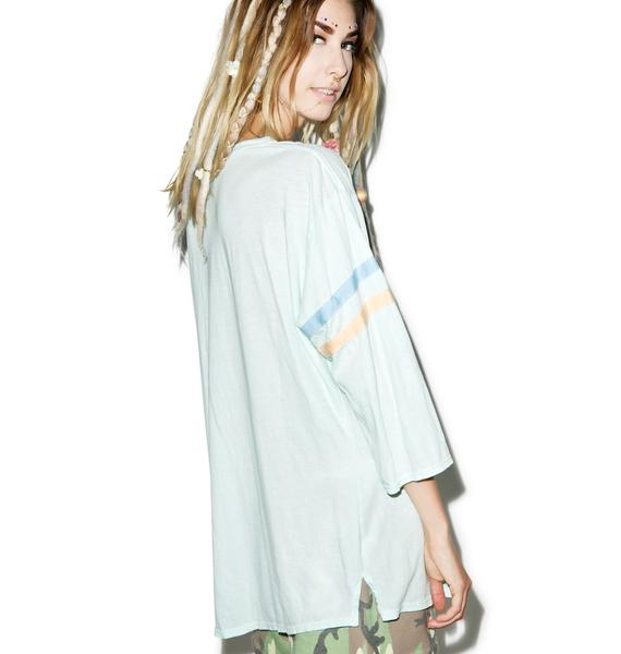 Wildfox Couture Drunk Sports Jersey Tunic