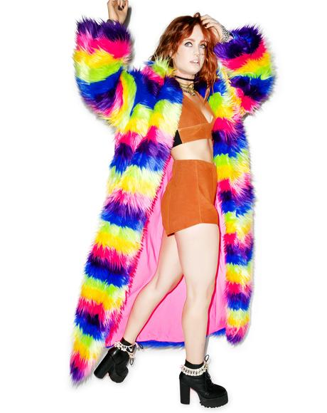 Taste The Rainbow Full Length Rainbow Coat