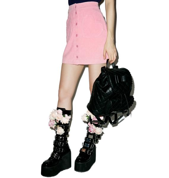 Lazy Oaf Heart Pocket Cord Skirt
