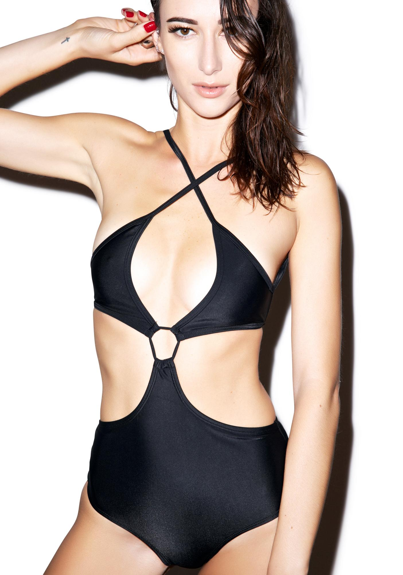 Motel Moondust Cut Out Swimsuit