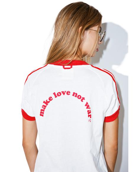 Make Love Not War Ringer Tee