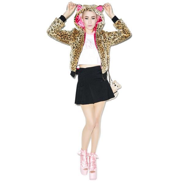 Sourpuss Clothing Kat Fur Leopard Jacket
