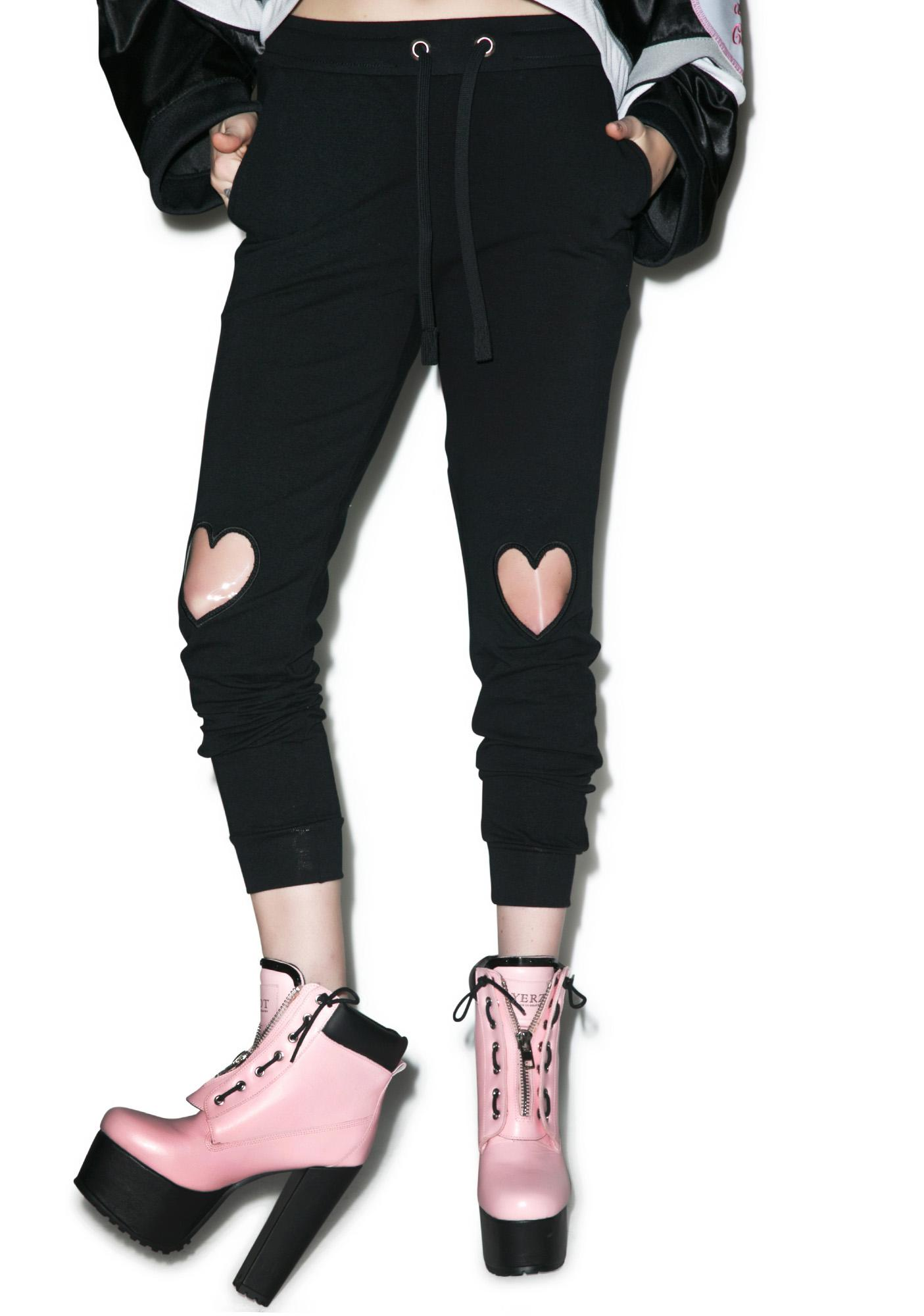 Local Heroes Transparent Hearts Sweatpants