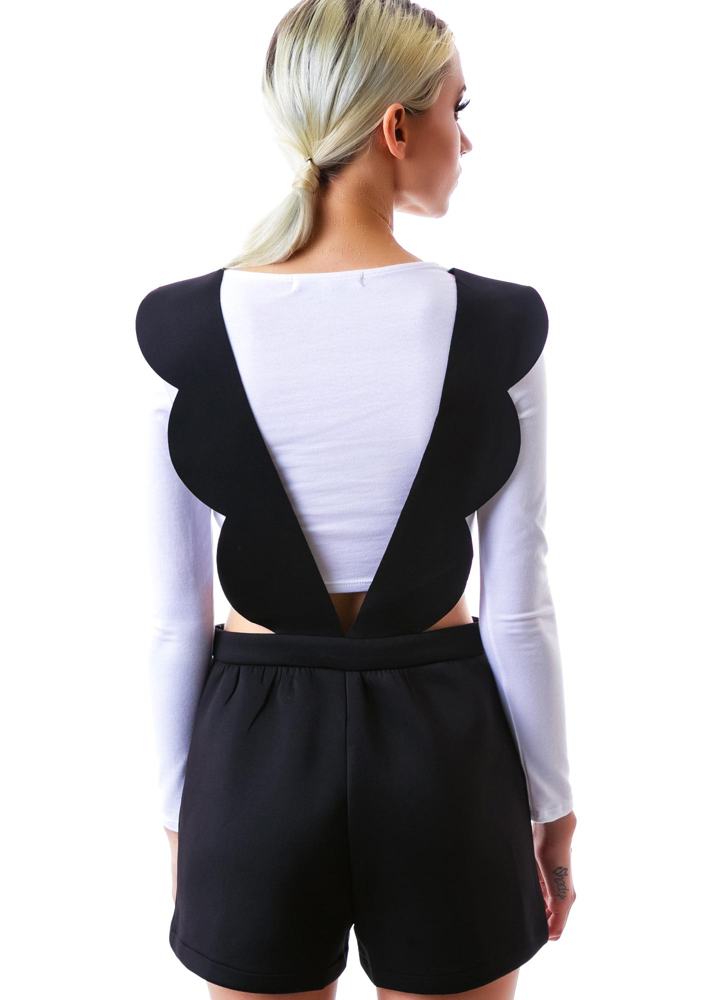 Mizz Minnie Ruffle Suspender Shorts