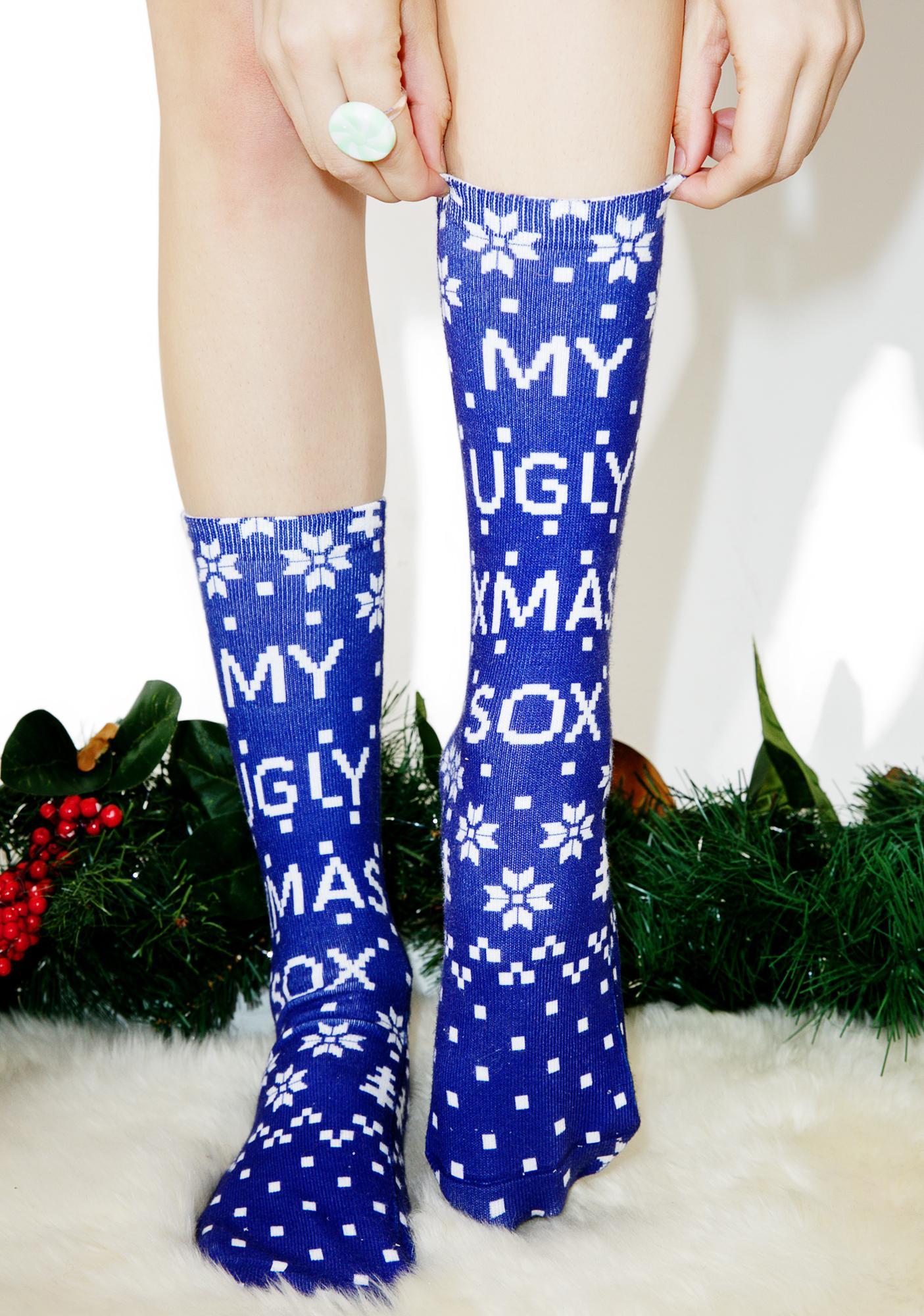 Ugly Xmas Sox Crew Socks