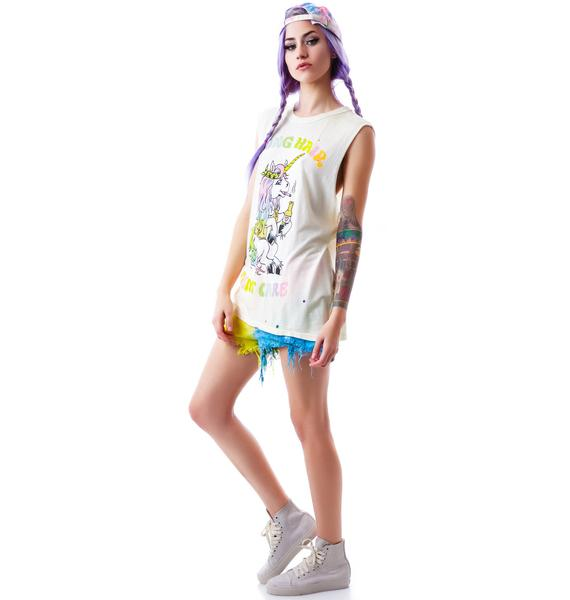 UNIF Long Hair Sleeveless Tee