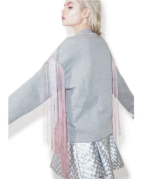 Majoris Metallic Fringed Sweater