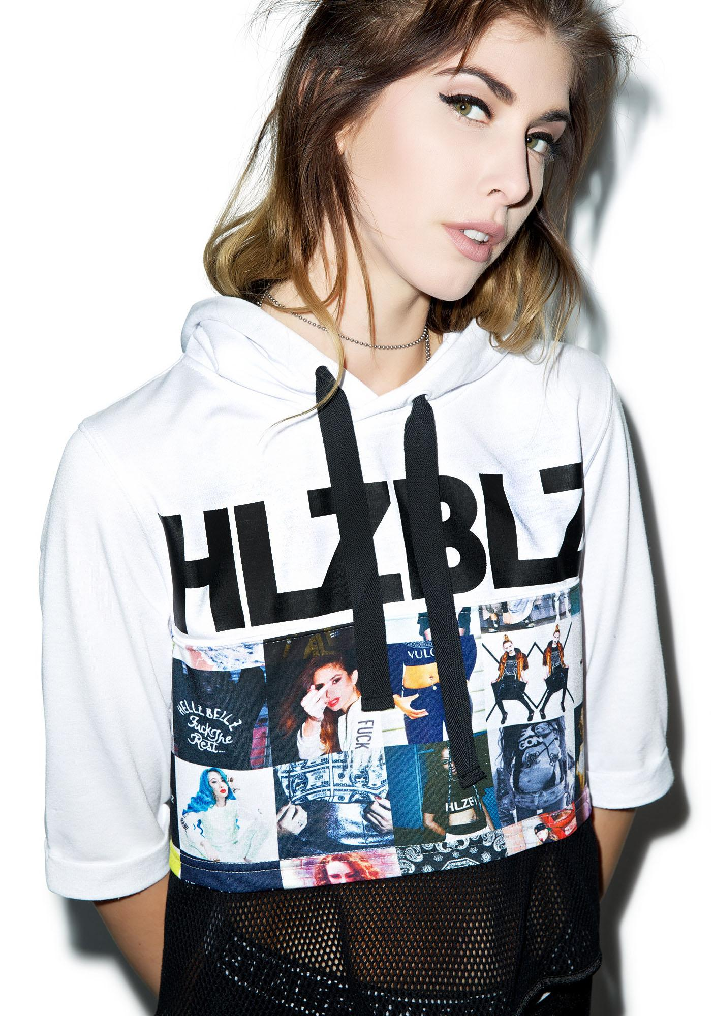 HLZBLZ #BadBitches Hooded Crop Top