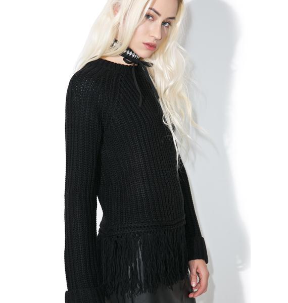 Telepathy Fringe Sweater