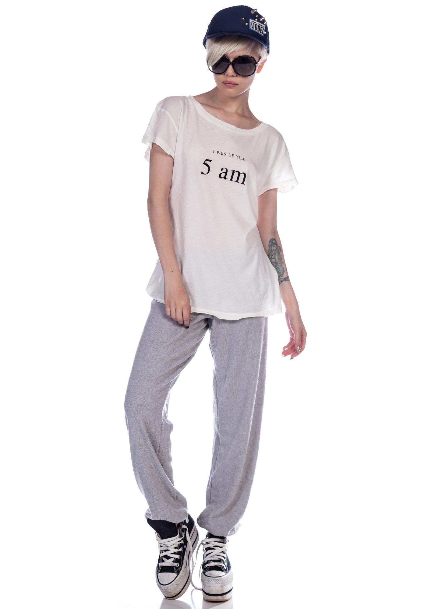 Wildfox Couture Up All Night Hippie Crew Tee