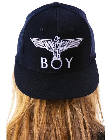 BOY Eagle Emblem Fitted Cap