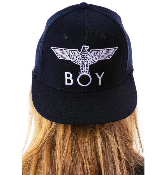BOY London BOY Eagle Emblem Fitted Cap