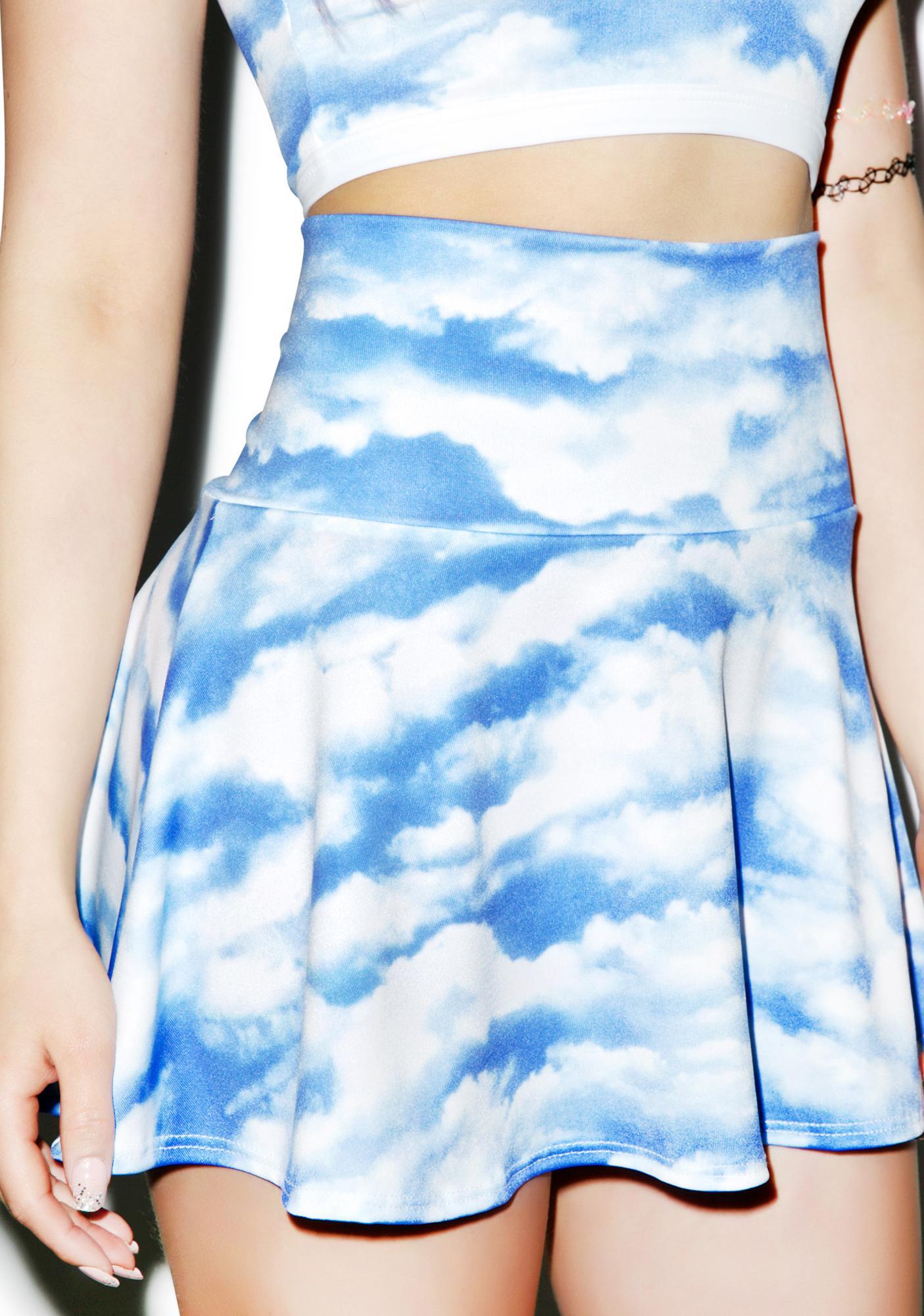 J Valentine Gettin' Cloudy Skirt