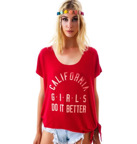 Rebel Yell CA Girls Do It Raw Tee