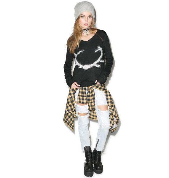 For Love & Lemons Antler Sweater