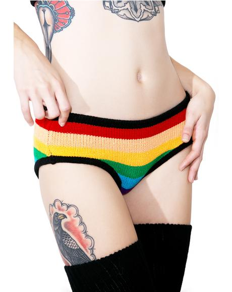 Rainbow Knit Panty