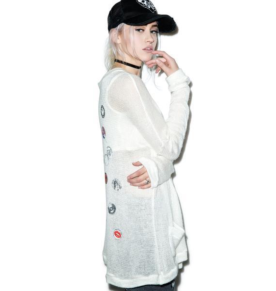Lauren Moshi Clara Pins Oversized Cardigan