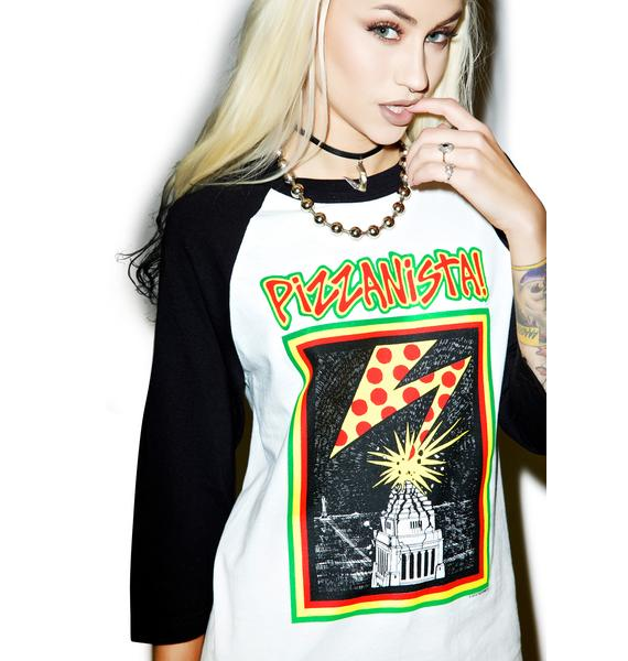 Pizzanista Almighty Pizza Baseball Tee