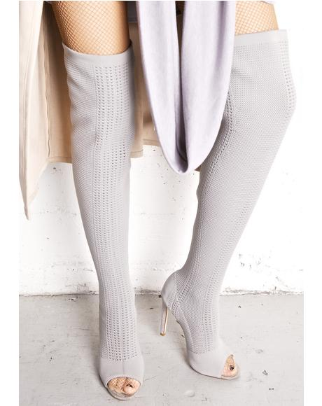 Smoke Myth Thigh-High Boots