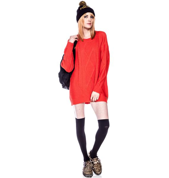 Insight Colab Cable Crew Knit Sweater