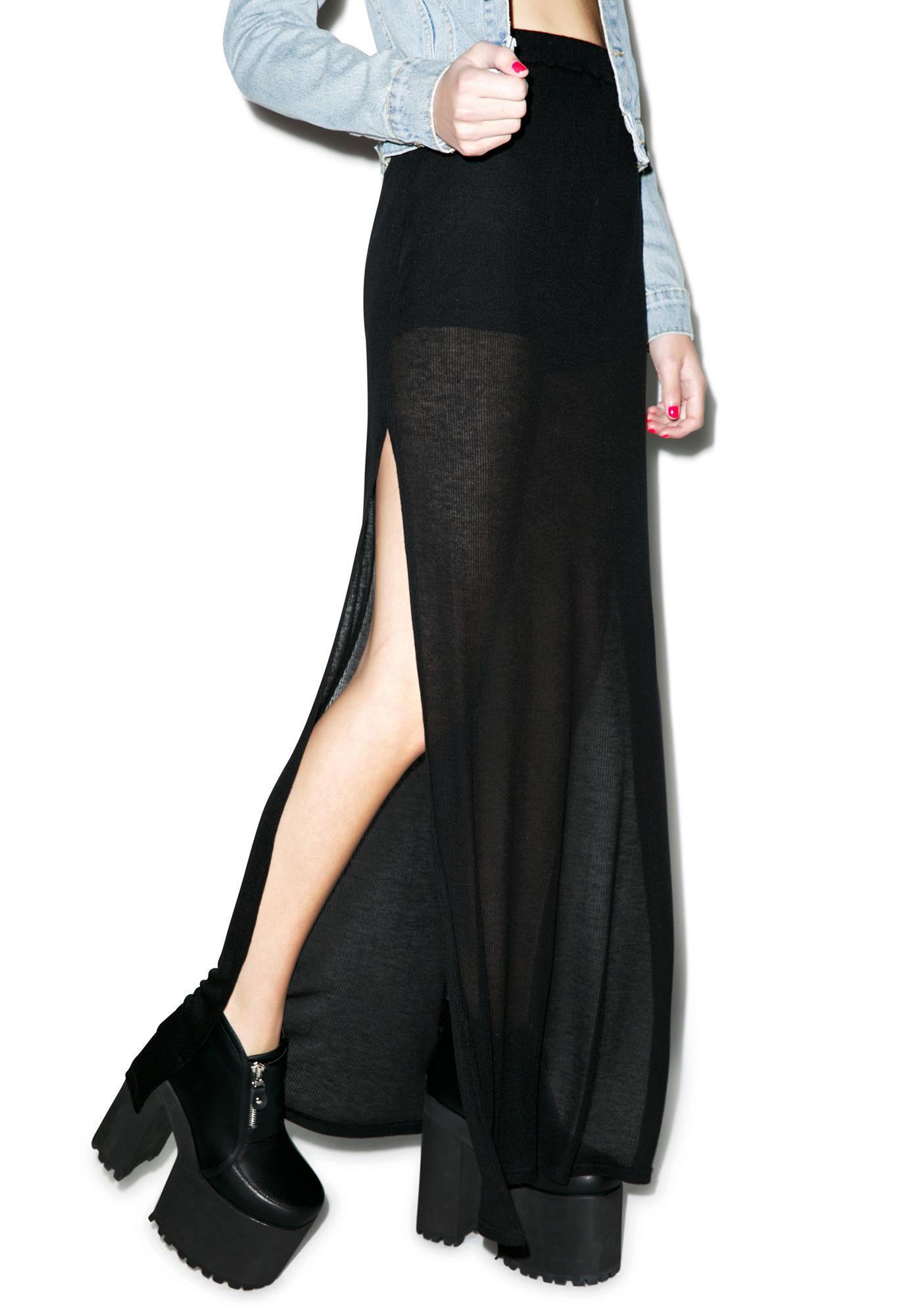 Mink Pink Shallow Waters Maxi Skirt