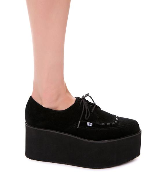 T.U.K. Suede Stacked Pointed Mondo Creeper