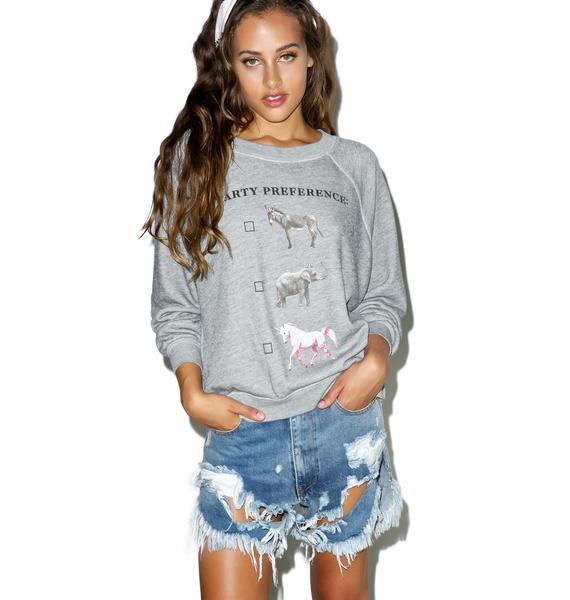 Wildfox Couture I Prefer Unicorns Kim's Sweater