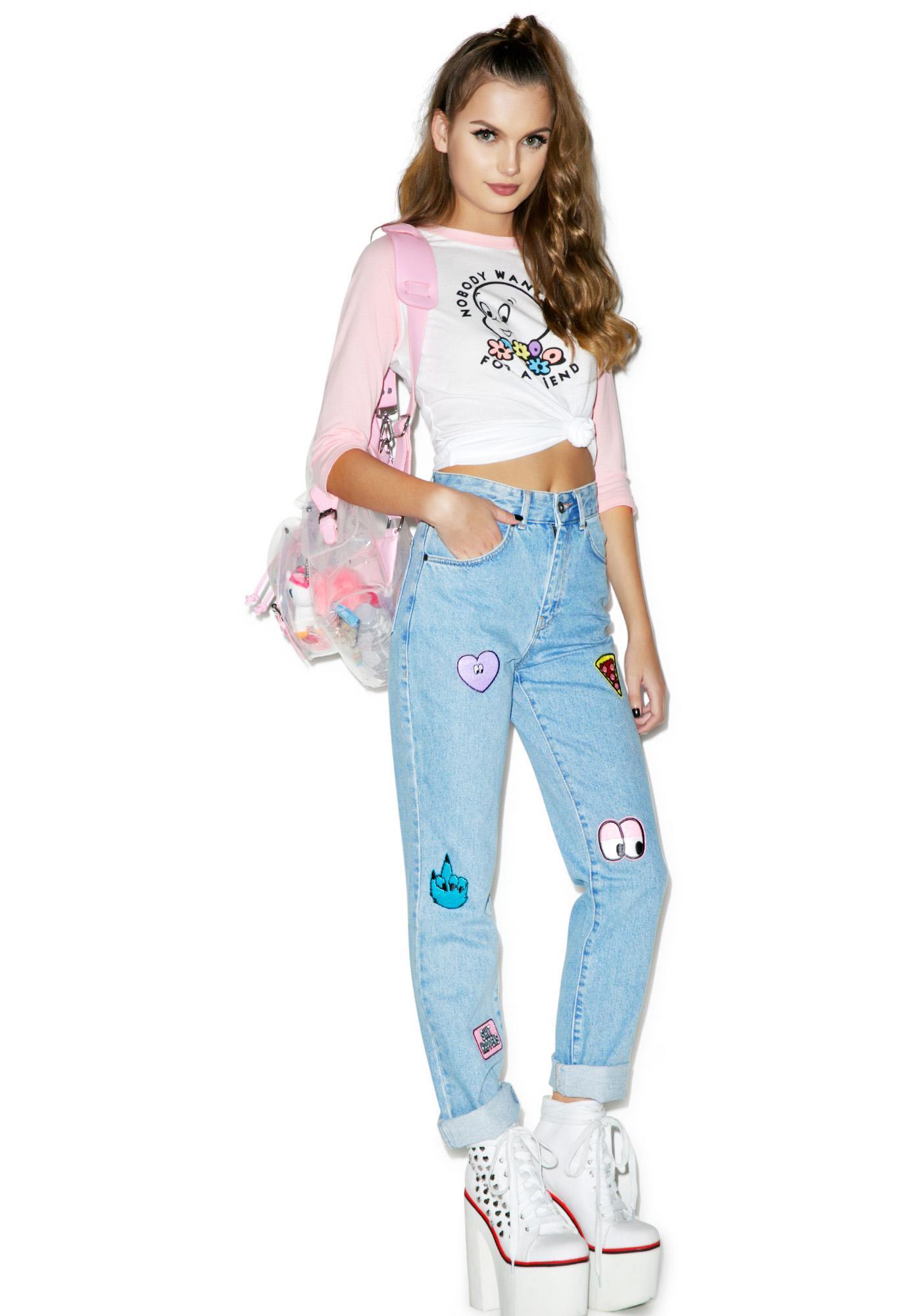 Lazy Oaf Collection Patch Jeans