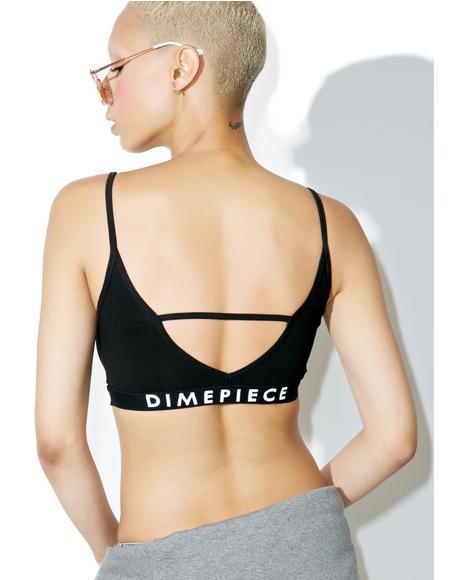 Dimepiece Logo Bralette