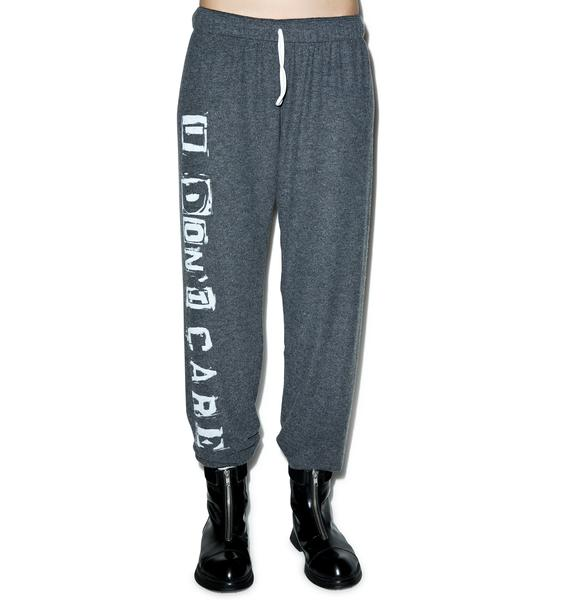 Lauren Moshi I Don't Care Tanzy Sweat Pants
