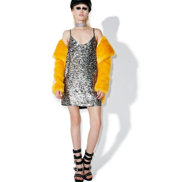 Kendall + Kylie Multi Sequin Slip Dress